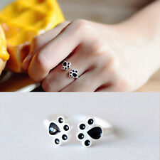1Pc New Women Lovely Cat Paw Pattern Open Adjustable Ring Jewelry For Girl Gift