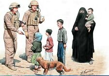 HELP YOURSELF, PLEASE US SOLDIERS WITH IRAQ CHILDREN 8 FIG 1/35 MASTER BOX 35159