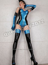 100% Latex Rubber Gummi 0.45mm Leotard Stockings Gloves Zentai Fashion Suit New