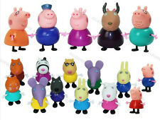 17pcs Peppa Pig Grandpa Grandma Family & Friends Ms Gazelle Toys 2016 Xmas Gift