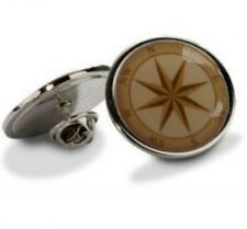 NAUTICAL BOAT NAVIGATION COMPASS  TIE LAPEL SUIT PIN