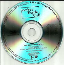 BOMBAY BICYCLE CLUB Lights Out Words Gone TST PRESS PROMO DJ CD Single USA 2012