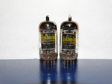 2 x 12AX7A Raytheon-Baldwin Tubes*Long Black Plates* Balanced*#6