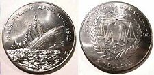 """1998"" SOMALILAND $5 AU Coin TITANIC SINKING in 1912 Ppd in USA!!!"