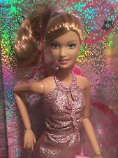 Strawberry Blonde Fashionista Barbie ARMS JOINTED Sparkling Pink Mini Dress WOW