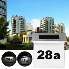Solar 4 LED Stainless Steel House Door Number Doorplate Light Wall Plaque Light