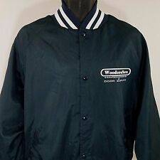WestArk Satin Bomber Jacket Vtg Woodcrafters Blue Made In USA Mens Sz XL EUC