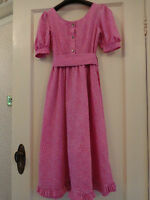 1970's Vintage Pink Ditsy Laura Ashley Dress Made In Carno Wales Size 4 6 8