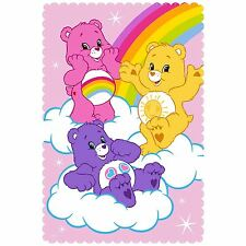 OFFICIAL CARE BEARS SHARE FLEECE BLANKET PINK KIDS NEW OFFICIAL FREE P+P