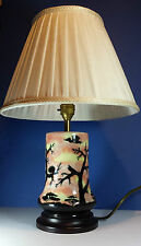 LOVELY COBRIDGE STONEWARE STUDIO POTTERY AFRICAN SUNRISE CERAMIC TABLE LAMP BASE