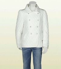 NWT NEW Gucci girls white light waterproof padded nylon quilted jacket 8 years