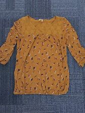 Stunning Women's Ladies Next Floral Blouse Top with Lace Detail Size 10