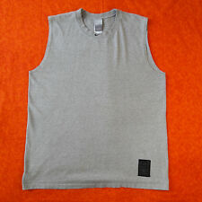 Nike Sz L Mens Basketball Tank Shirt Heather Gray Athletic Muscle Fit Dry Tee