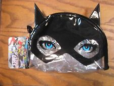 Gothic Girls - Cosmetic Make-Up Bags - Batgirl Clear Round Top Bag with Bat Ears