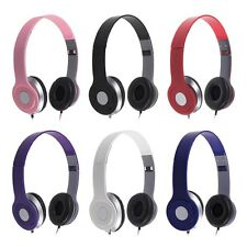 STEREO HEADPHONES DJ STYLE FOLDABLE HEADSET EARPHONE OVER HEAD MP3/4 IPOD 3.5MM
