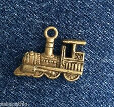 "Train Bronze Tone Charms 6/8""  Metal Alloy Bookmarks Bracelets Scrapbooking"
