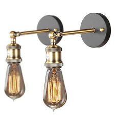 2 Retro style Edison Wall Lamps Wall Light Mini Sconces Finished Lamp Holder
