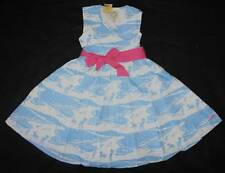 NWT Little Joule Summer Croquet Blue White Girl Beach Dress Stunning! 7 Yrs.