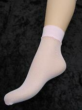 ANKLE SOCKS PINK STRETCHY SOFT FISHNET LADIES FIT APROX UK SHOE SIZE 4 - 9 BNWT