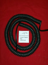 2 core 0.75sqmm coiled PVC cable. 1000mm coil.
