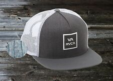 New RVCA VA All The Way Box Trucker III Charcoal White Snapback Cap Hat