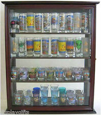 40 Shooter Tall Shot Glass Display Case Wall Cabinet with Glass Door, SC10-MAH