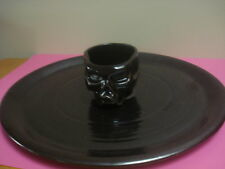WILLIAMS SONOMA HALLOWEEN APPETIZER SERVING PLATTER SKULL DIP BOWL