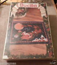 1993 Bucilla Latch Hook Kit Over The Roof Tops #13800 Rare find SEALED NEW