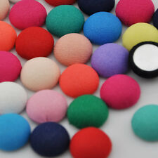 50 pcs Colorful Round printing fabric covered button with flat back CT11