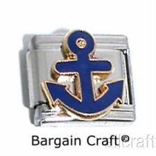 ANCHOR Italian Bracelet Charm Enamel Boat Nautical Sea