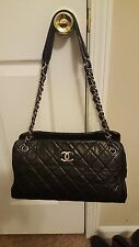 Auth Black Lambskin Chanel Limited Edition 2.55, 227 Maxi  14 x 7 Retail $3950