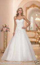 NEW Elegant A-line white/ivory Lace Wedding Dress Bridal Gown Custom Size