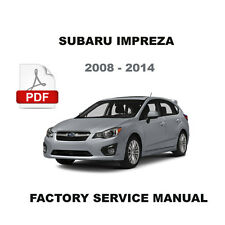 SUBARU 2008 2009 2010 2011 2012 2013 2014 IMPREZA ULTIMATE OEM SERVICE MANUAL