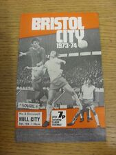 18/09/1973 Bristol City v Hull City  (Crease). Condition: Listed previously in b