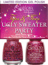 Gelaze by China Glaze Tip & Toes Kit Ugly Sweater Party - .5 fl .Oz - (83511)