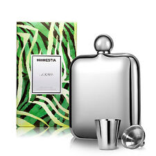 New Whiskey Alcohol Square Stainless Steel Pocket Hip Flask Bottle+funnel+glass