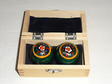 "CHINESE CHIMING THERAPY BALLS 1 5/8"" WITH WOODEN BOX"