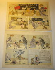 2 Large Old 1904 - BUSTER BROWN Gets Vaccinated - RF Outcault - COMIC PRINTS