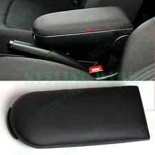 Black Leather Center Console Armrest Cover Latch Lid Clip For VW Passat Bora Mk4