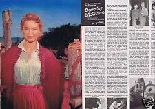 Coupure de presse Clipping 1976 Dorothy McGuire  Mc Guire  (4 pages)