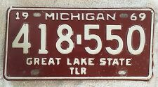 Vintage 1969 Michigan License Plate FREE SHIPPING Visit My eBay Store