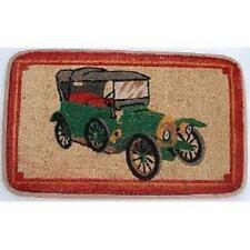 Vintage Car Design Rubber Backed Coir Door Mat