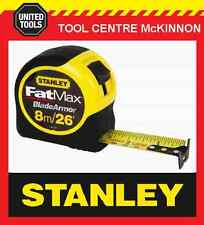 STANLEY FAT MAX 8m/26' METRIC/IMPERIAL TAPE MEASURE (3.3m STANDOUT)