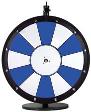 18 Inch Blue and White Portable Dry Erase Spinning Prize Wheel
