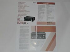 McIntosh MR-77 Tuner Brochure 4 pages, Specs, Info, Articles, MR77