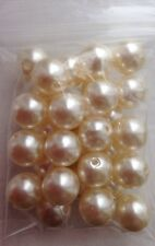 12mm Round Pearl Glass Beads - 25g - 30 Beads - Lovely Quality Beads!