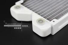 120mm White Pure Copper Radiator G1/4 Threads PC Water Liquid Cooling USA Seller