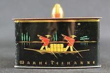 Kleine Dose Marke Teekanne Blechdose mit chinesischen Motiven