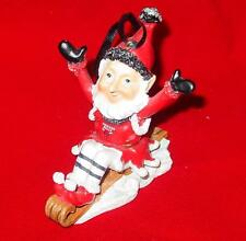 New Licensed Chicago Bulls Elf on A Sled / Shelf Ornament Too Cool! Last Ones!