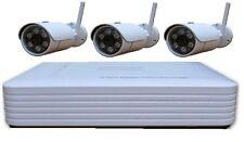 kit 3 telecamere WIFI IP senza fili, DVR + visione cellulare FAI DA TE